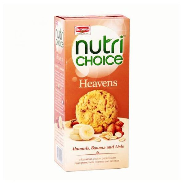 Briannia nutri choice heavens almonds, banana and oats 60 Gm