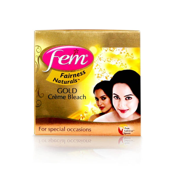 fem fairness naturals gold creme bleach 24 Gm