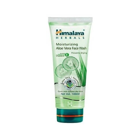 Himalaya Herbal Moisturizing Aloe Vera Cucumber Cool and Softens dry skin Face wash