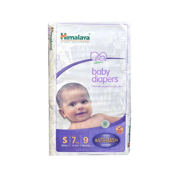 Himalaya Baby Diapers With Anti-Rash Shield Small 7 Kg,0-3M