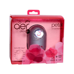 Godrej aer click gel petal crush pink car fragrance starter & refill