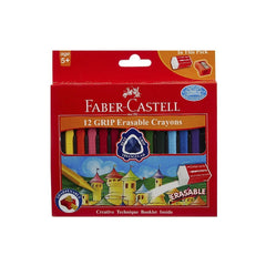 Faber-Castell 12 Grip Erasable Crayons 1 Pc