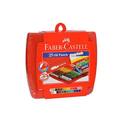 Faber-Castell Oil Pastels - 25 Shades with Scratch Tool 1 Pc