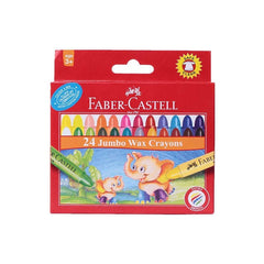 Faber-Castell Jumbo Wax Crayons - 90 Mm with Free Crayon Holder