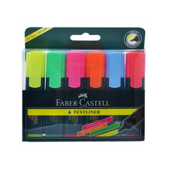 Faber-Castell Textliner 5 Assorted Shades (yellow,Green,pink, blue,orange)