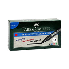 Faber Castell Permanent Marker Pen (Pack Of 10)
