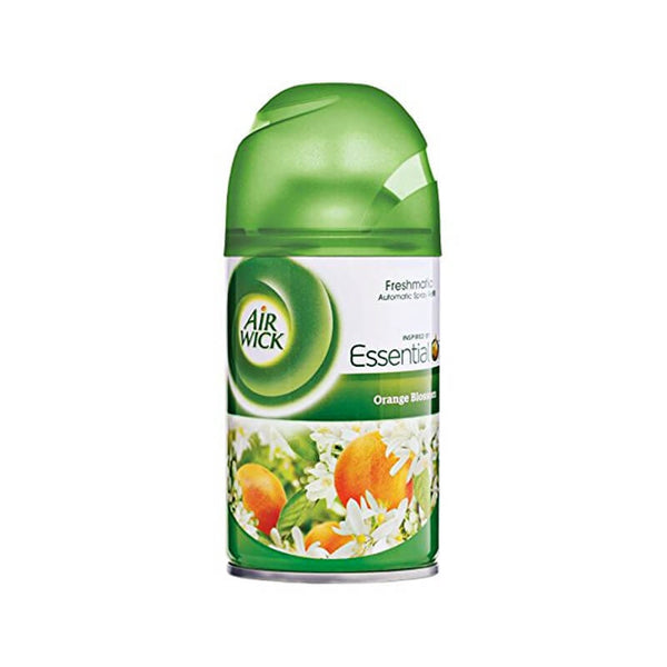 Air Wick Essential Oils Orange Blossom Freshmatic Automatic Spray (1 Freshmatic Devise, 1 Aerosol Re
