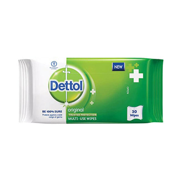 Dettol Original multi-Use Wipes 30 Wipes