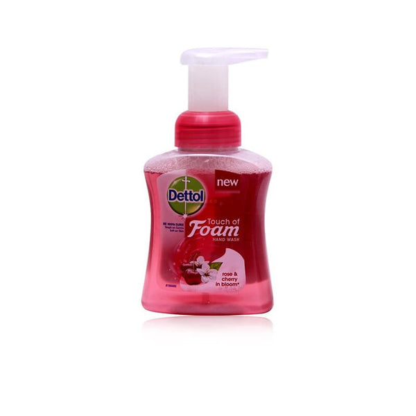 Dettol Touch Of Foam Rose & Cherry Hand Wash 250 Ml