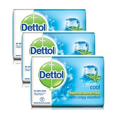 Dettol Cool With Crispy Menthol Shop 3 x 75 Gm