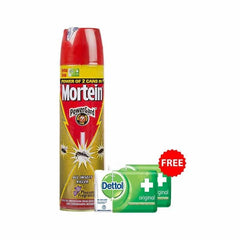 Mortein All Insect killer Insta kills Dengue Mosquitoes with free 2 Dettol Soap