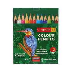 Camel Half Size Color Pencil With Sharpener - 85 mm