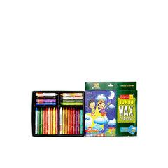 Camel Jumbo Wax Crayons with 2 Glitter