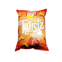 Lays Twistz Saucy Tomatina Flavour Potato Based Snack