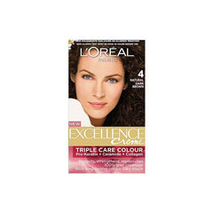 Loreal 4 Natural Dark Brown Triple Care Creme Excellence Creme