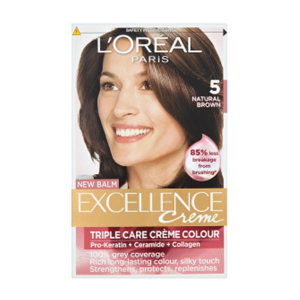 Loreal 5 Natural Brown Triple Care Creme Excellence Creme