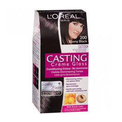 Loreal 200 Ebony Black Casting Creme Gloss Conditiong Gloss Sonam'S Glossy Black 87.5 G + 72 ML