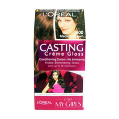 Loreal 500 Medium Brown Casting Creme Gloss Conditiong Gloss No Ammonia