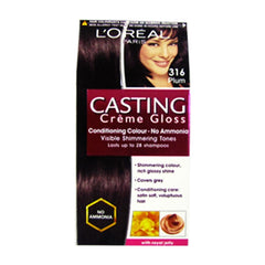 Loreal 316 Plum Casting Creme Gloss Conditiong Gloss No Ammonia