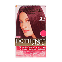 Loreal 316 Burgundy Triple Care Colour Excellence Creme 24 ML+ 26 G