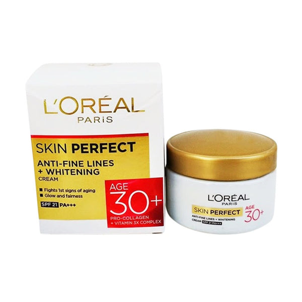 Loreal Skin Perfect Anti-Fine Lines+Whitening Cream Spf 21++