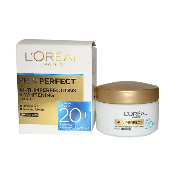 Loreal Skin Perfect Anti-Imperfections+Whitening Creame Age 20+ Purifyll +Vitamin 3X Complex