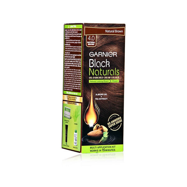 Garnier Black 4.0 Natural Brown Oil-Enriched Cream Colour