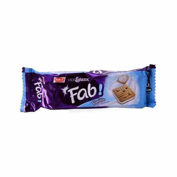 Parle Hide & Seek Fab Vanilla Flavoured Choco Chip Sandwich Cookies