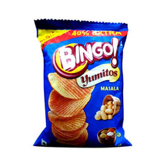 Bingo Yumitos Masala Potato Chips with 4.4g extra