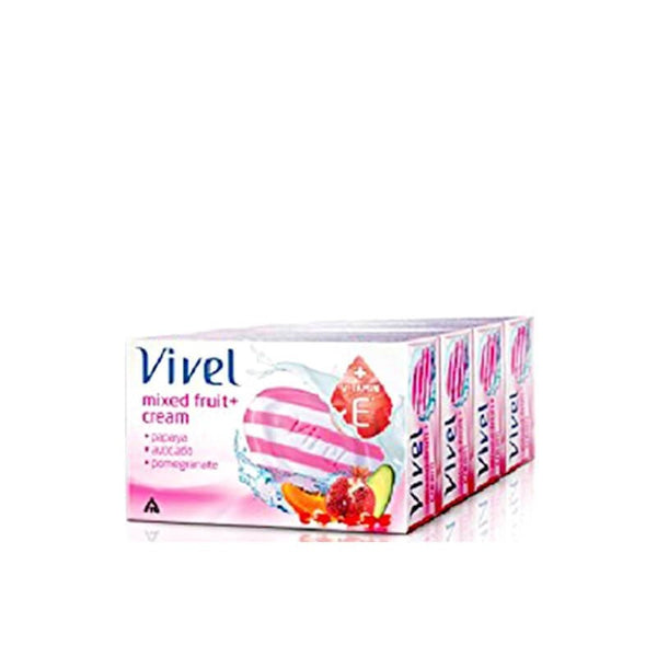 Vivel Mixed Fruit + Cream Soap - Buy 4 Get 1 Free