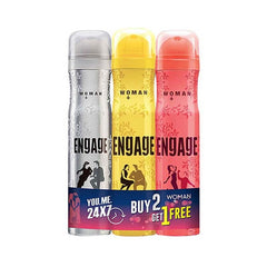 Engage Deodorant Buy 2 Get 1 Free (1 Engage Blush 150 Ml,Engage Drizzle 150 Ml and Engage Tease 150 Ml)