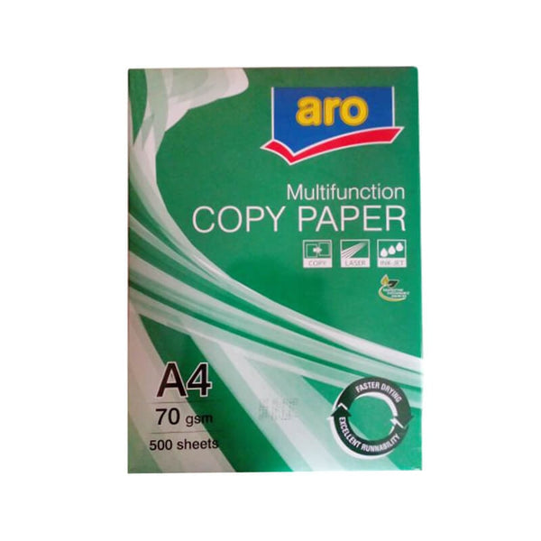 Aro Multifunction Copy Paper A4 70 Gsm 500 sheets - BazaarCart Best Online Grocery Store