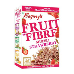Bagrry fruit n fibre  muesli with strawberry almond & raisin - BazaarCart Best Online Grocery Store