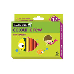 Classmate Colour Crew Wax Crayons 12 Shades