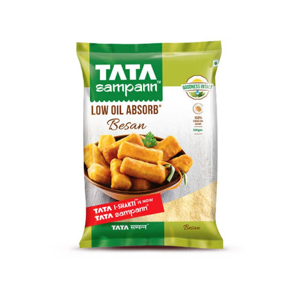 Tata Sampann Low Oil Absorb Besan 500 Gm