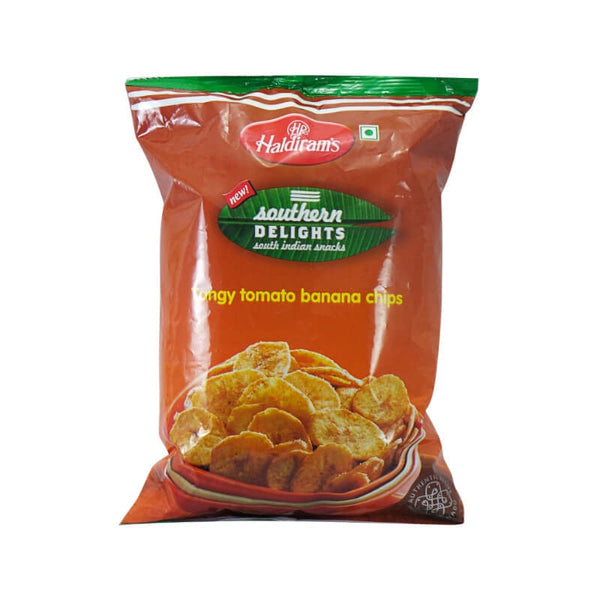 Haldiram Southern Delight South indian snack Tangy Tomato Banana Chips 200 Gm