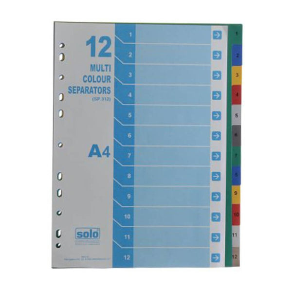 Solo A4 Sp 312 Separators Set Of 12 1 pcs