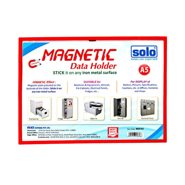 SOLO MAGNETIC DATA HOLDER  MDFA5 A5