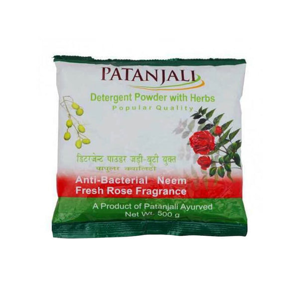 Patanjali Detergent Powder With Herbs Superior Quality Anti-Bacterial Neem Citrus Lemon Fragrance & 2 Kg