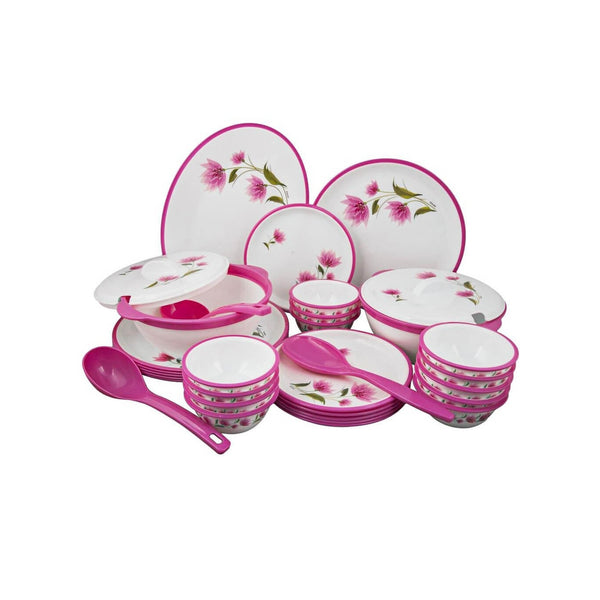 Nayasa Polyplast Round Deluxe Dinner Set 32 Pcs Printed