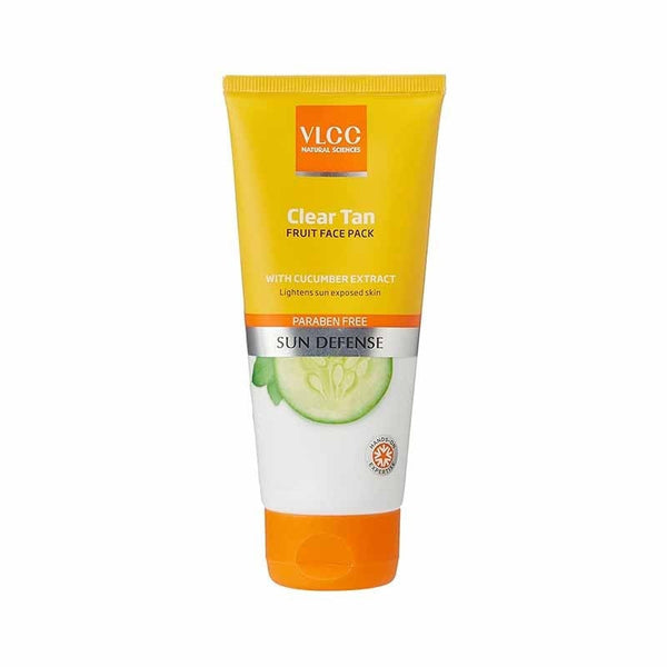 Vlcc Sun Defense Clear Tan Fruit Face Pack With Cucumber Extract