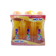 Nayasa Multiplast Wild Flower W/ Bottle (1000 Ml) 6 Pc 1 Pc