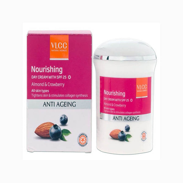 VLCC Anti Ageing Nourishing Almond & Crowberry Day Cream With Spf 25 50 Gm