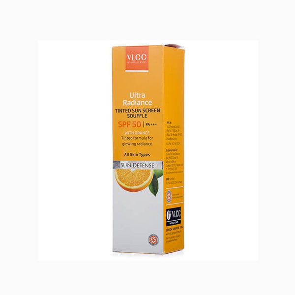 VLCC Ultra Radiance Tinted Sun Screen Souffle Spf 50|Pa+++ For Glowing Skin 40 Ml