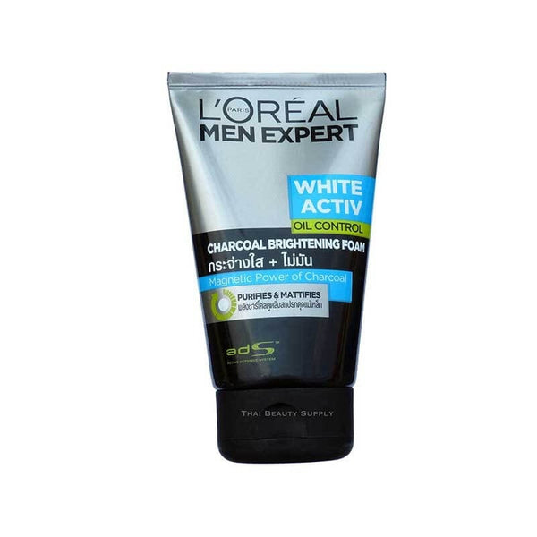 L'Oreal Men White Activ Oil Control Charcoal Brightening Foam