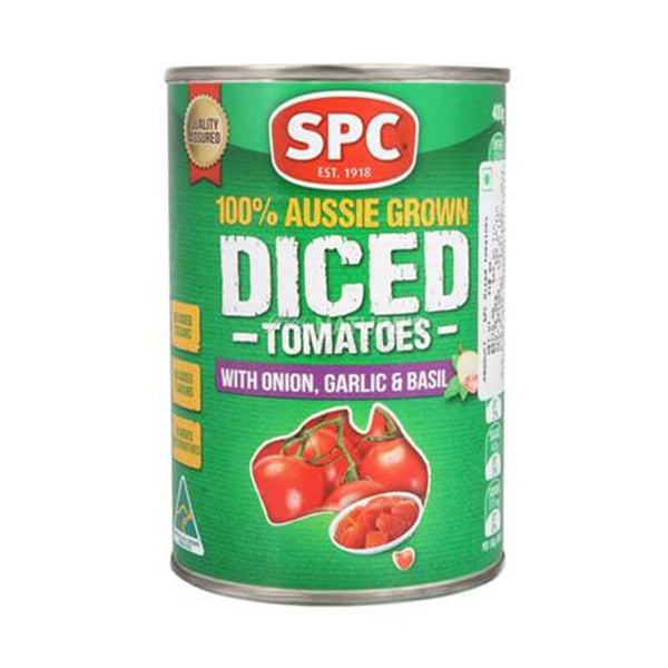 Spc Diced Tomatoes With Onion,Garlic&Basil 410 Gm