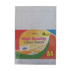 Vijeta High Quality Colour Sheets A4 20 Sheets