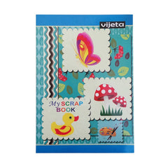 Vijeta Scrap Book - One Side Ruling 16 Cm X 26 Cm