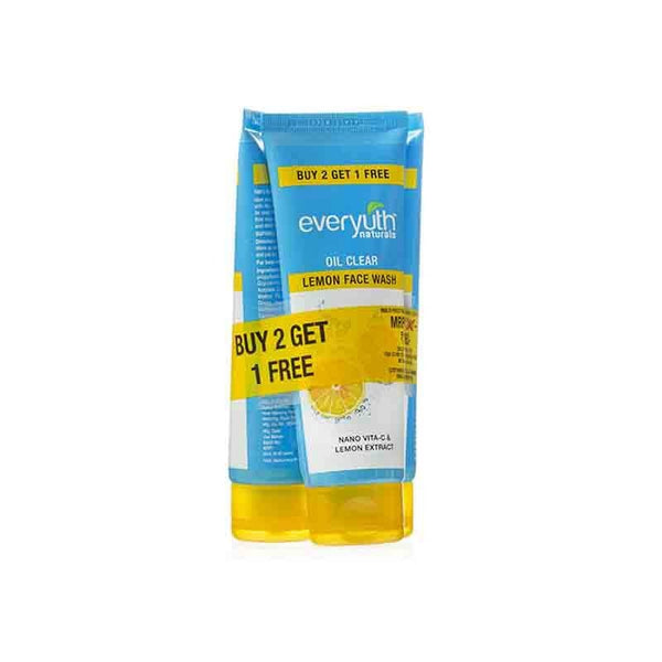 Everyuth Naturals Oil Clear Lemon Face Wash  Buy 2 Get 1 Free