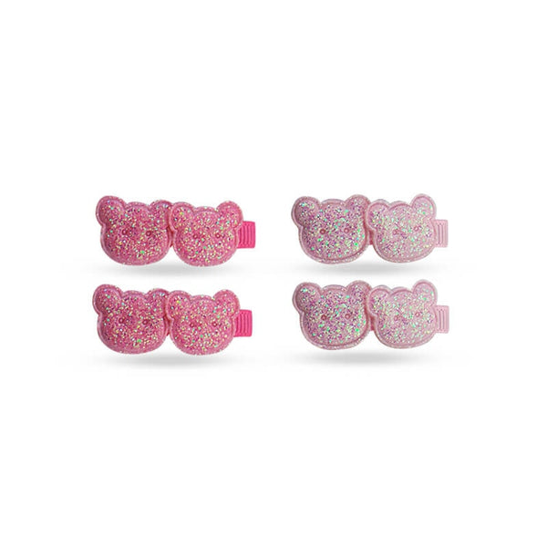 Mayo Baby Teddy Clip 2 Pair Hair Clip Pack Of 2 Pcs Dark Pink & Light Pink